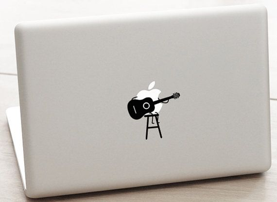 13-inch Macbook and 15-inch Macbook Guitar Searching for the Apple Vinyl Sticker for Macbook / Laptop