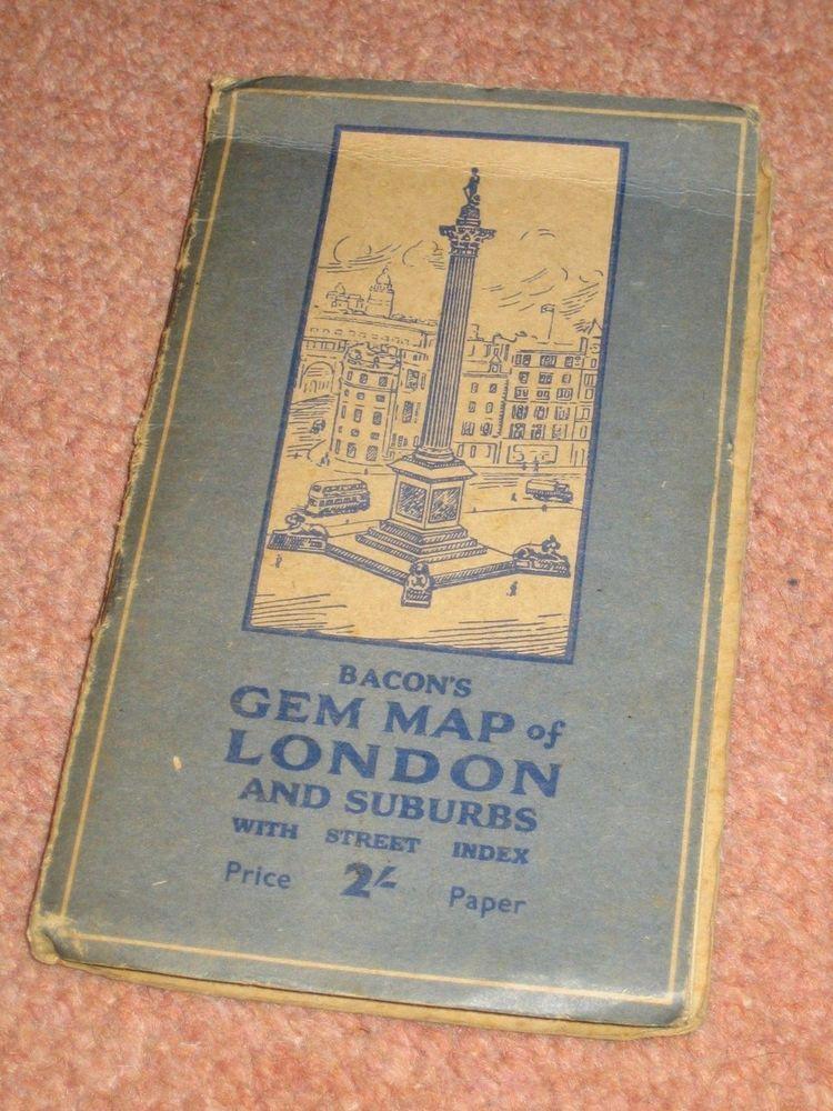 Baconu0027s Gem Map Of London u0026 Suburbs
