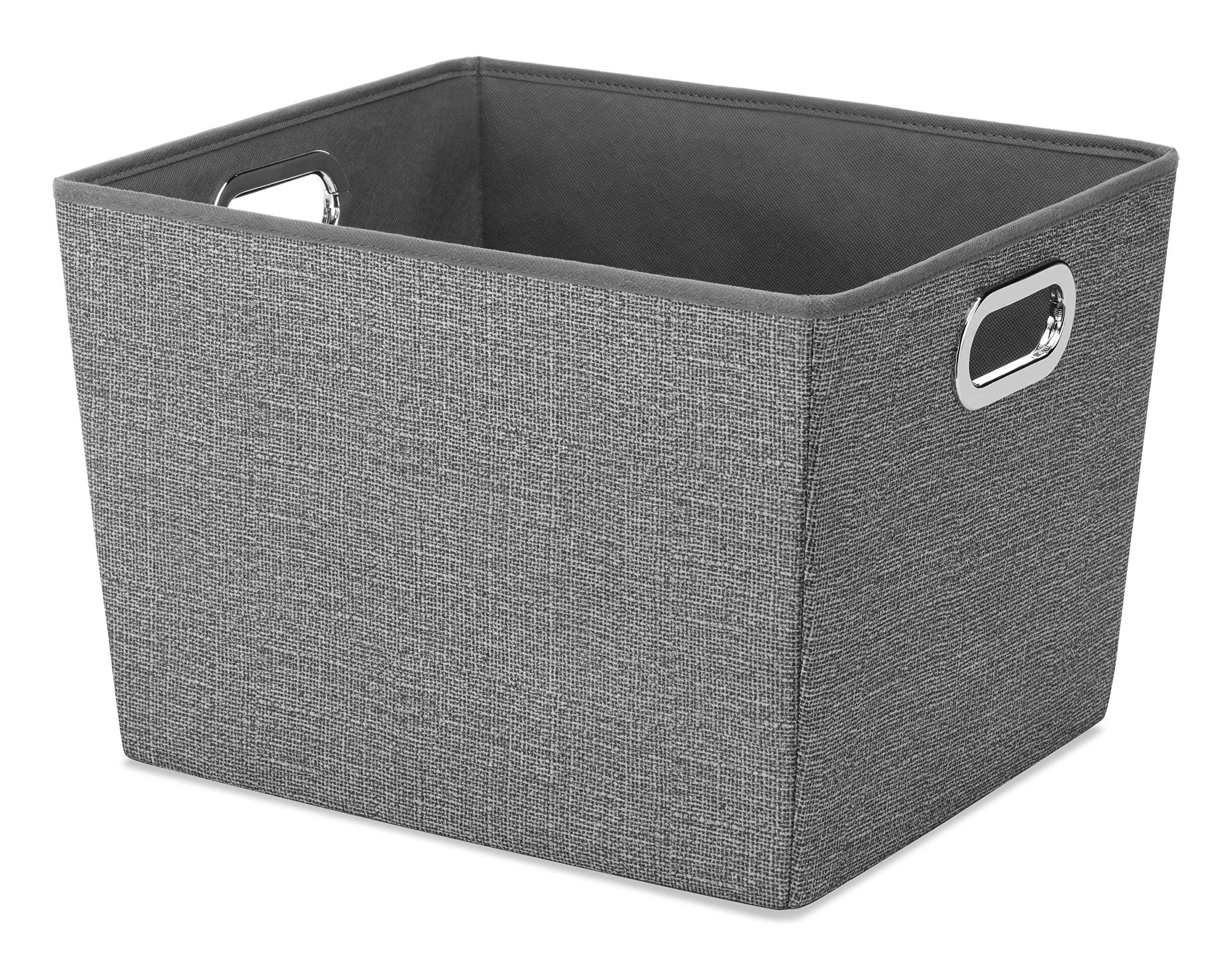 Robot Check Storage Bins Grey Storage Canvas Storage