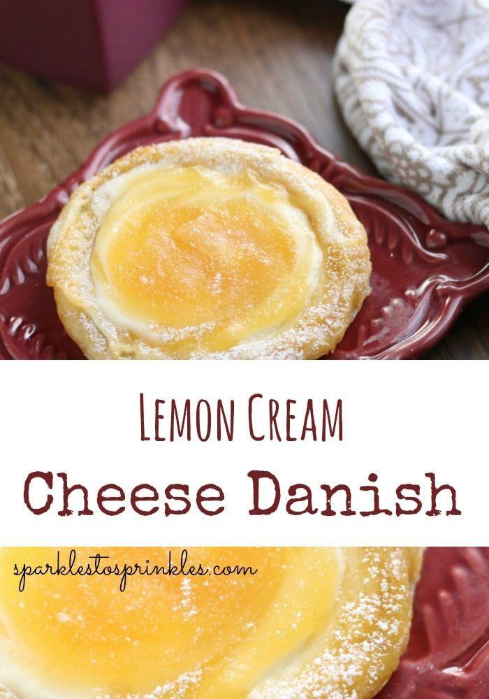 Lemon Cream Cheese Danish lemon cream cheese danish crescent rolls, lemon cream cheese danish puff pastry, blueberry lemon cream cheese danish, lemon raspberry cream cheese danish.  Pin for Later!