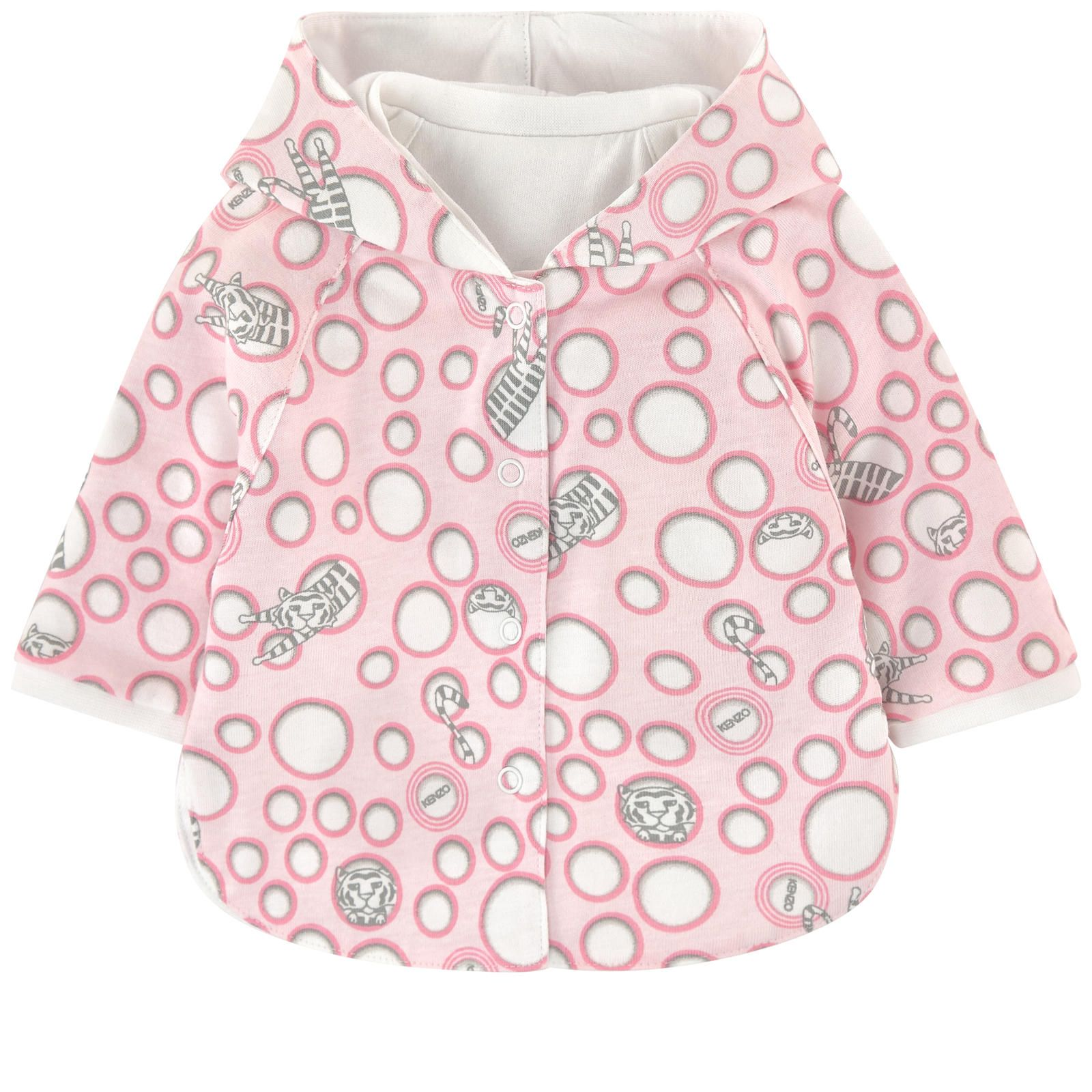 Kenzo Kids Cardigans Cardigan with a reversible hood