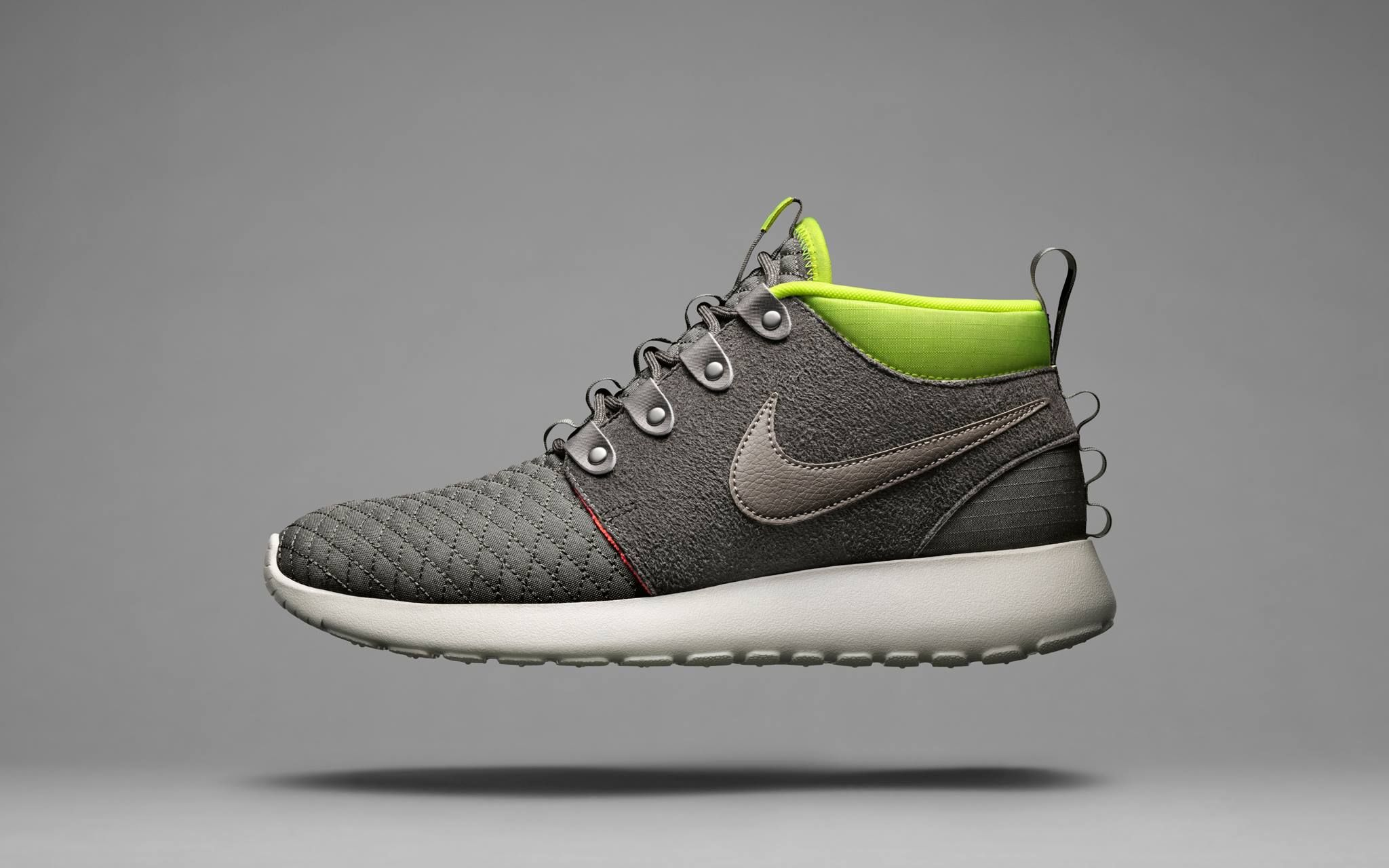 Men's Nike Roshe Run SneakerBoot. Quilted Utility. Quilted protection for  premium comfort. The