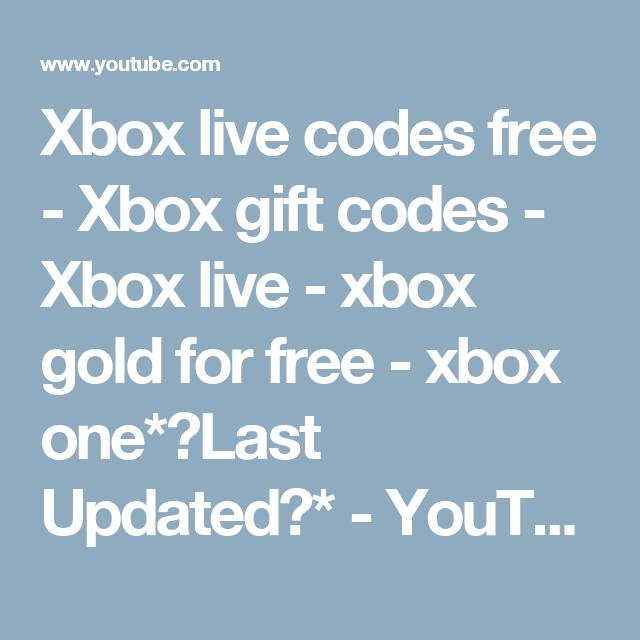 Xbox live codes free - Xbox gift codes - Xbox live - xbox