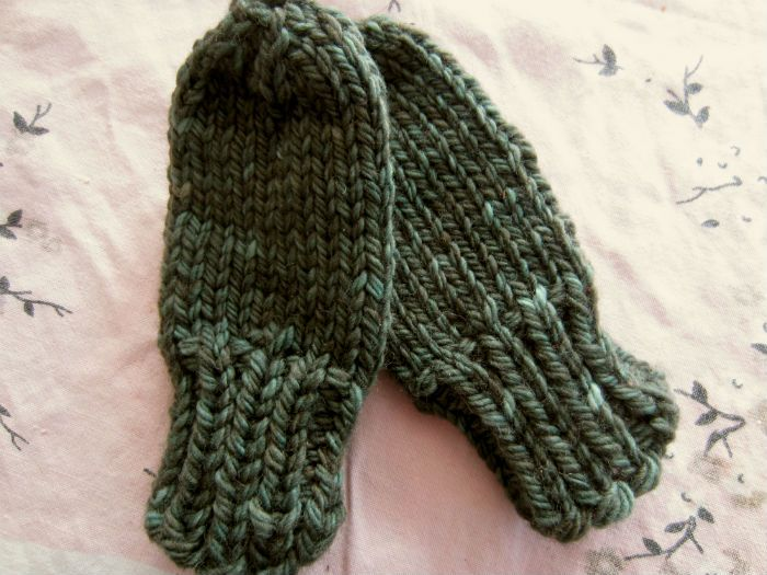 Free Pattern Chunky Baby Mittens With No Thumb Pinterest Baby