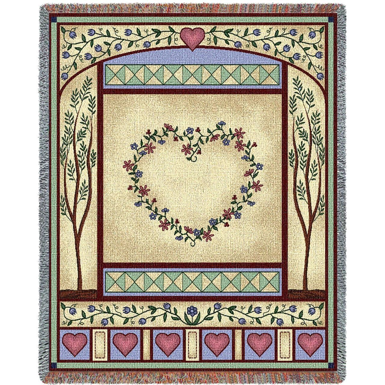 Love Quilt II Art Tapestry Throw | Tapestry, Warm color palettes and ...