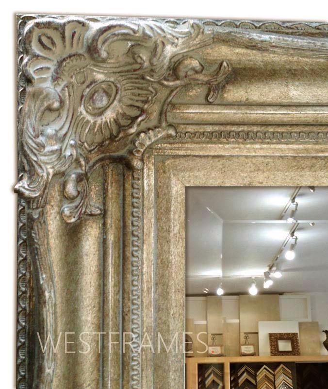 Ornate Framed Wall Mirror Bathroom Vanity Mirror Antique Champagne Silver Westframes