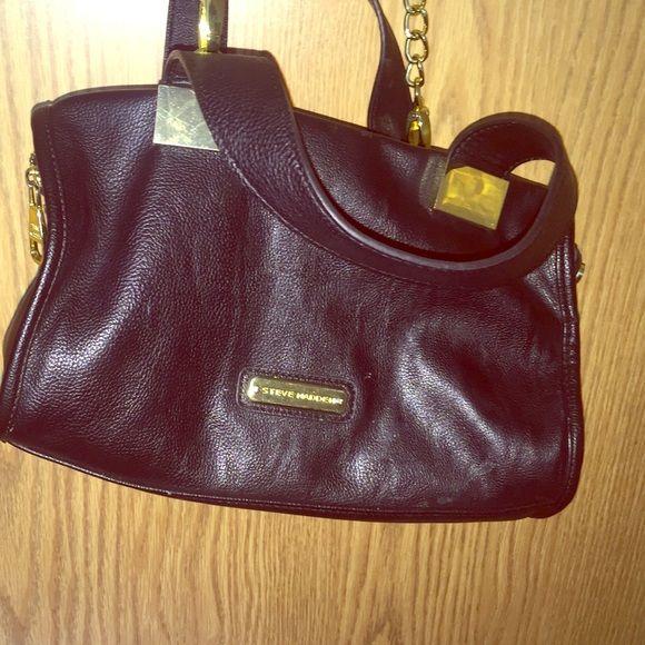 Steve Madden Handbag Black And Gold Strap That Clips On Off