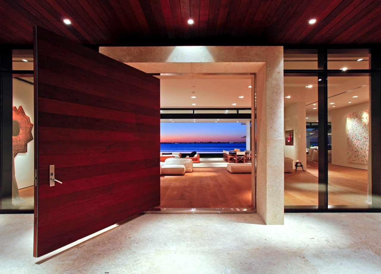 Stunning Waterfront Modern Masterpiece By Ralph Choeff In Miami