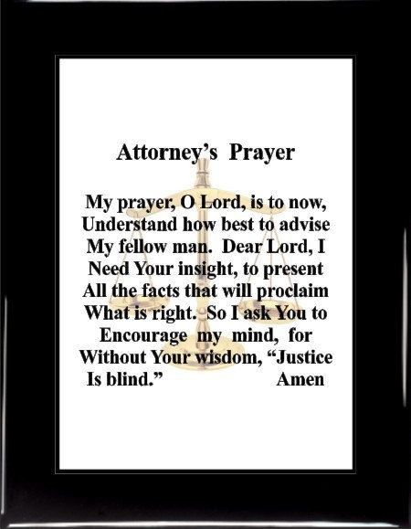 Attorneys Prayer, 1081, , attorney gifts, attorney decor, gifts for