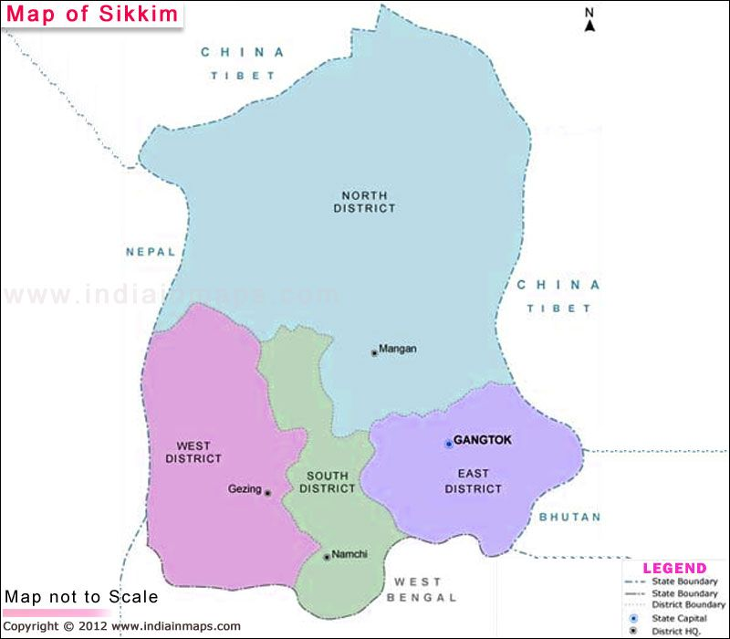 Carte Inde Sikkim.Sikkim Map North East India Map State Map Et Chart