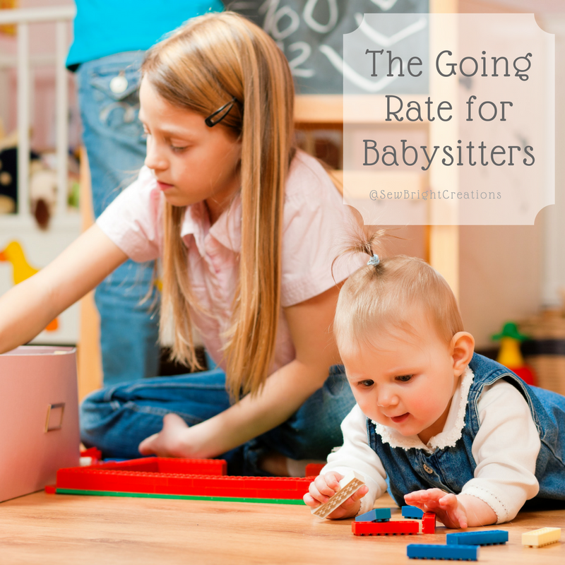 What To Pay A Babysitter Real Survey Results Sew Bright Creations Babysitting Fun Babysitter Babysitting Jobs