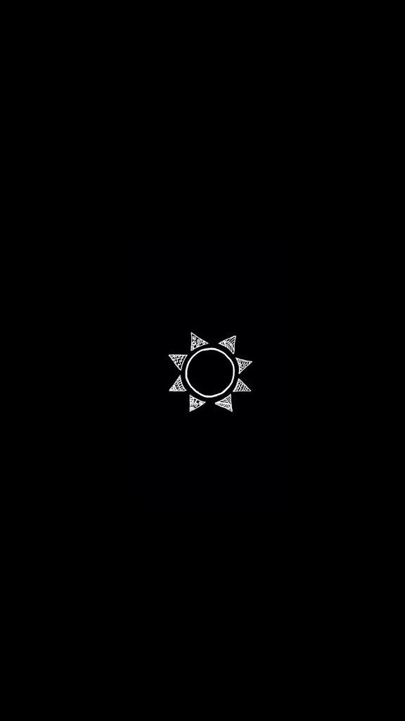 iphone drawing art simple sun black wallpaper