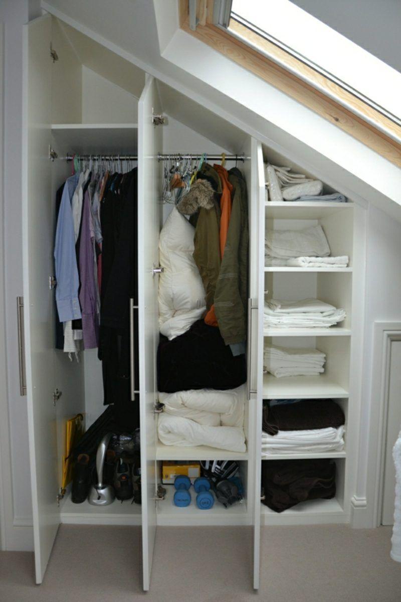 Begehbarer Kleiderschrank Unter Dachschrage Ideen Und