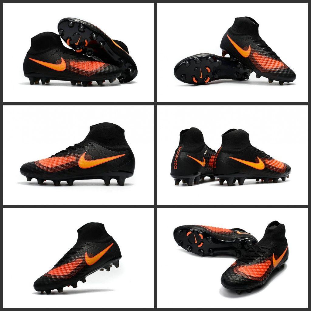 los angeles a0da5 960ea Nike Magista Obra 2 FG Scarpette da Calcio Uomo Nero Arancione Più leggera  rispetto alla versione