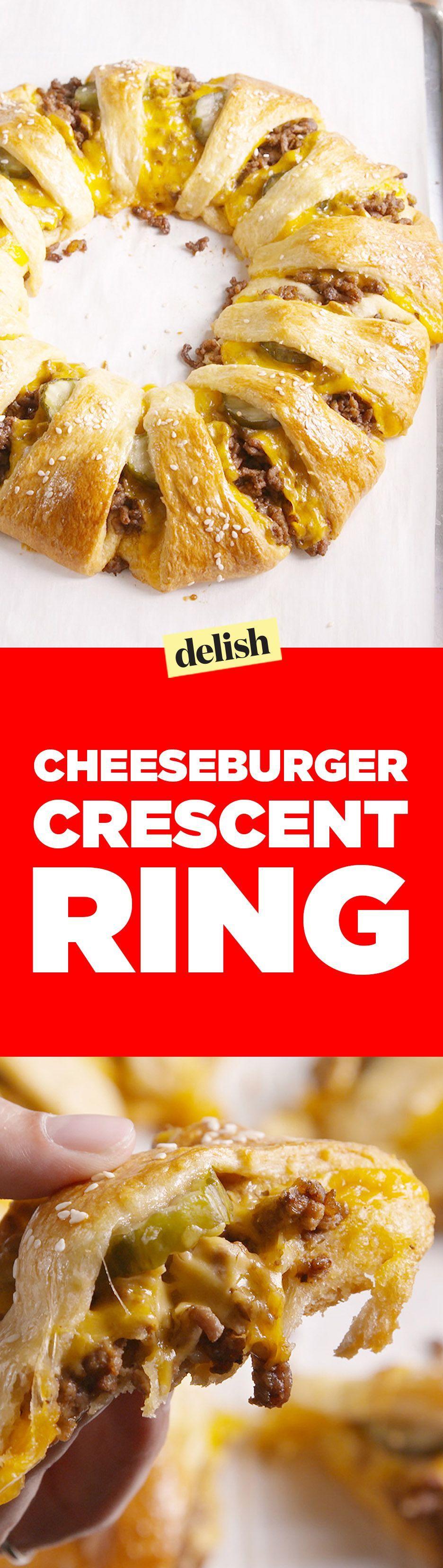 Cheeseburger Crescent Ring