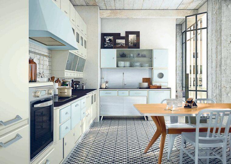 Chique Vintage Keuken : Deco retro keuken en chique campagne ideeën om te naaien