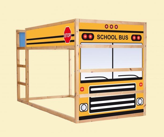 Aufkleber f r das hochbett ikea kura school bus - Kinderbett bus ...