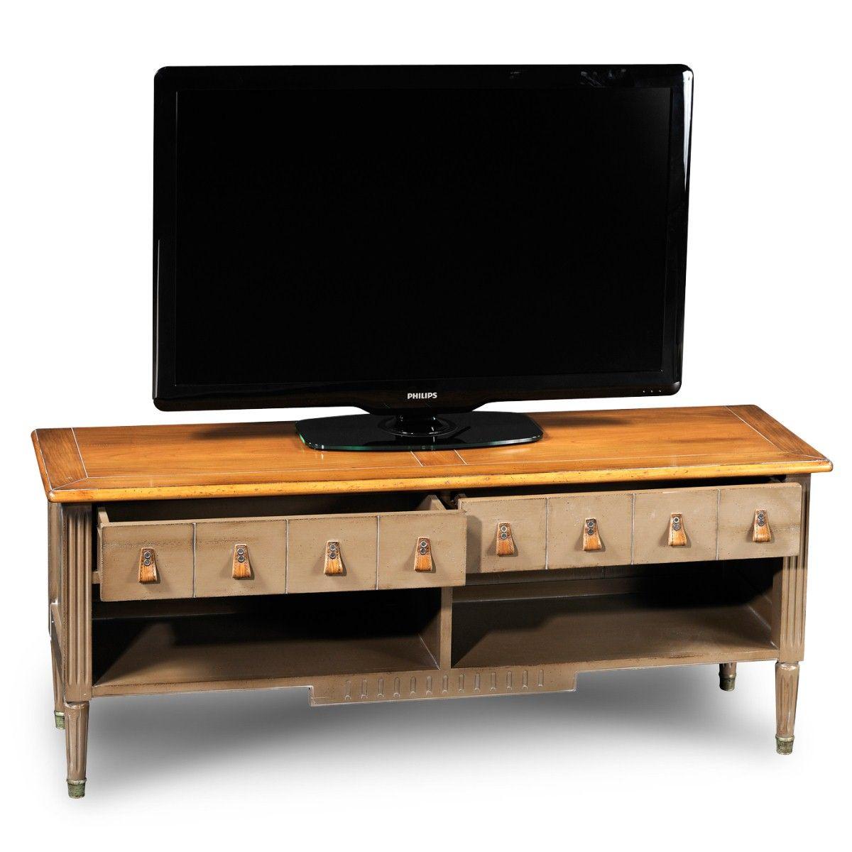Jacob Tv Cabinet L 56 X H 22 X D 16 In Multimedia Furniture  # Meuble Tv Louis Xvi
