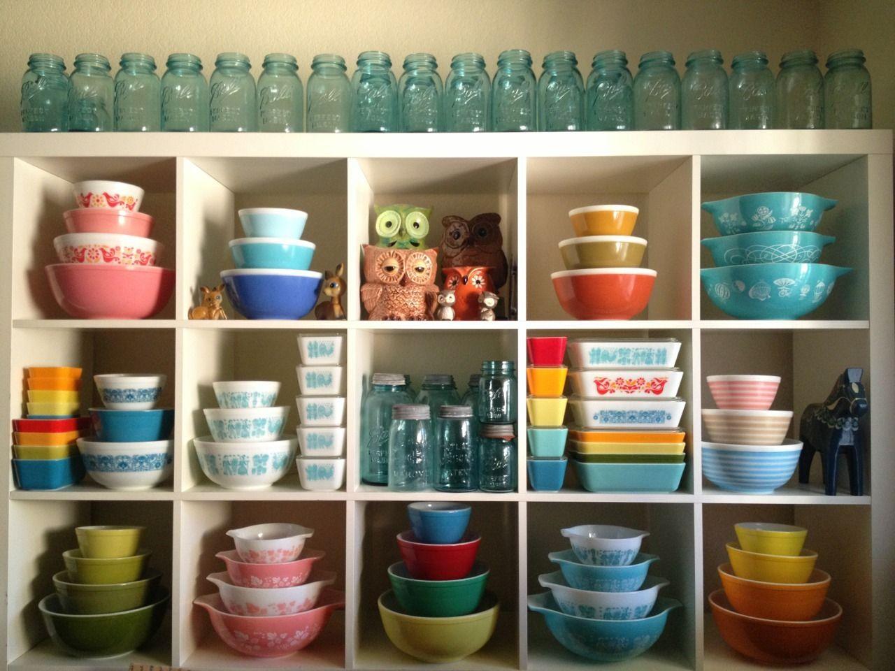 Pyrex Collection Mid Century Kitchen Tumblr Vintage