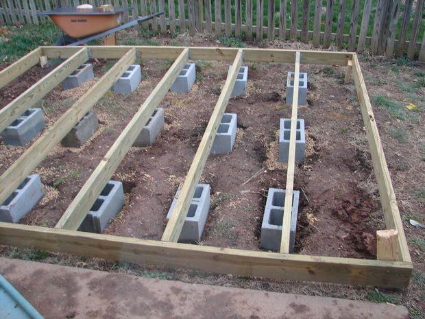 Bild Vom Aufbau Der Basis Und Aufstellen Der Wande Aufbau Aufstellen Basis Amenagement Jardin Cabane Jardin Construction Terrasse