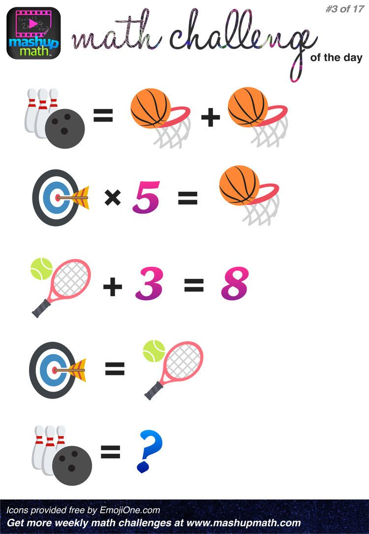 It is a picture of Smart Math Challenge Puzzles
