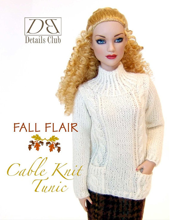 Knitting pattern for 16 doll Tyler Wentworth: di DBDollPatterns ...