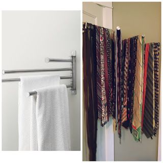 Ikea Hack Towel Bar As A Tie Rack Storage
