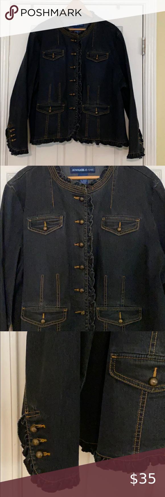 Pre Loved Avenue Jean Jacket Size 26 28 Jean Jacket Jackets Jean Coat [ 1740 x 580 Pixel ]