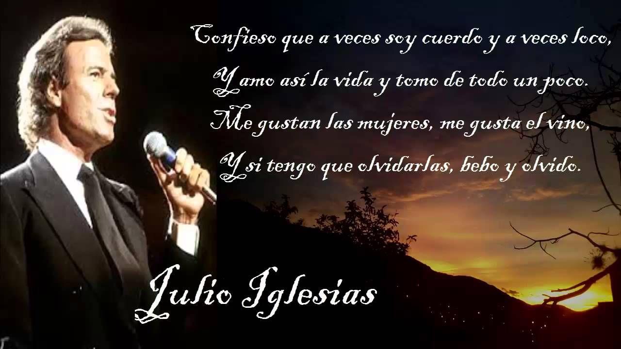 Soy Un Truhan Soy Un Señor Julio Iglesias Con Letra