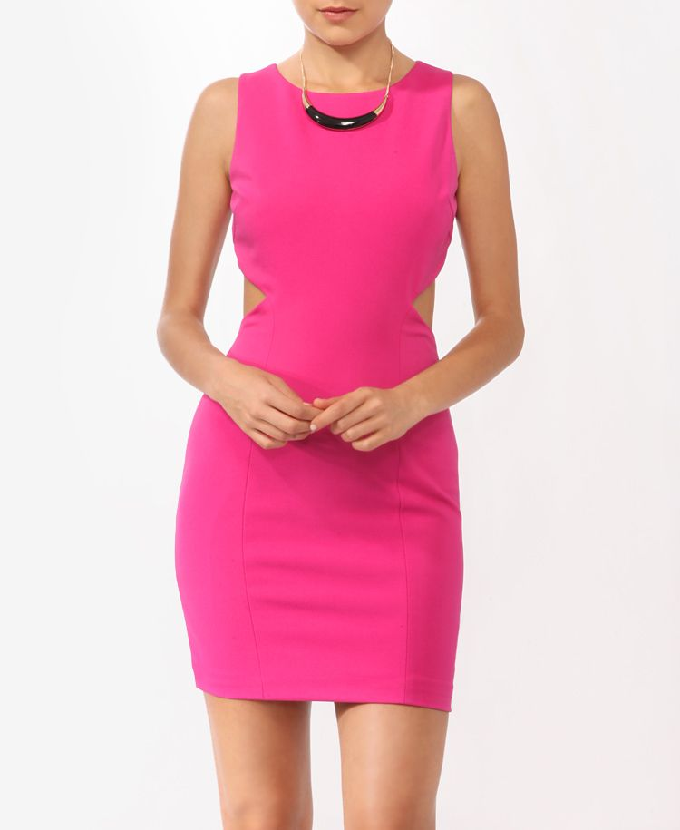 Ribbed Open Back Dress ... i've been likin the neon colors lately
