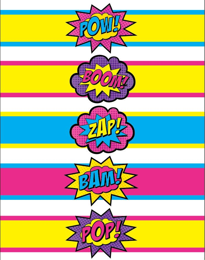 My Favourite colours! Superhero Water Bottle Labels Printables. $10.00, via Etsy.