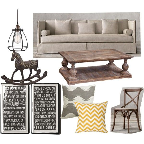 SOFT SAND COLORS by fer-moreno-1 on Polyvore featuring interior, interiors, interior design, hogar, home decor, interior decorating, Restoration Hardware, Dot & Bo, CB2 and Home