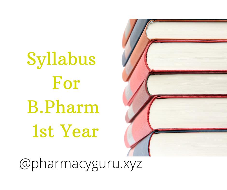 Syllabus For B Pharmacy 1st Year 2020 Human anatomy