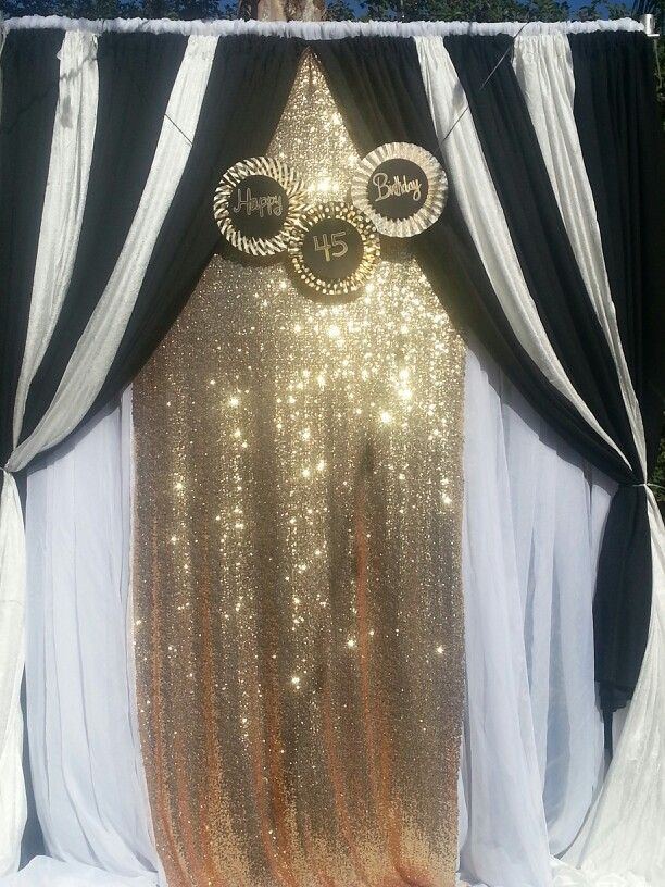 Balck and white glam photo backdrop Used for 45th Hollywood Glam