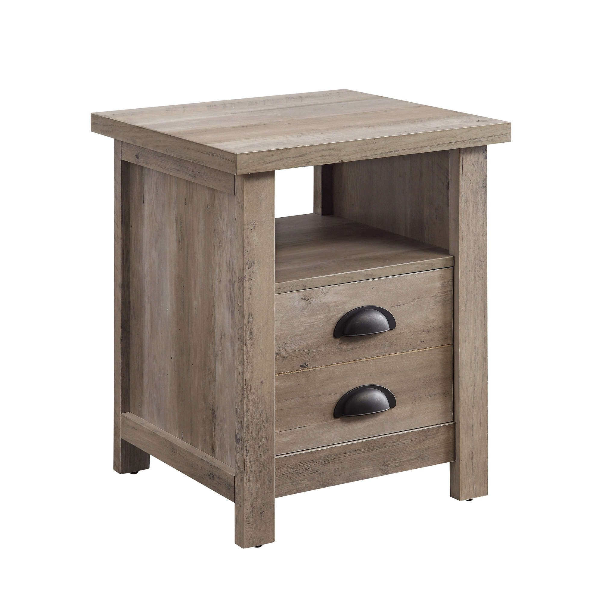 Home Farmhouse end tables, Rustic nightstand, Wood