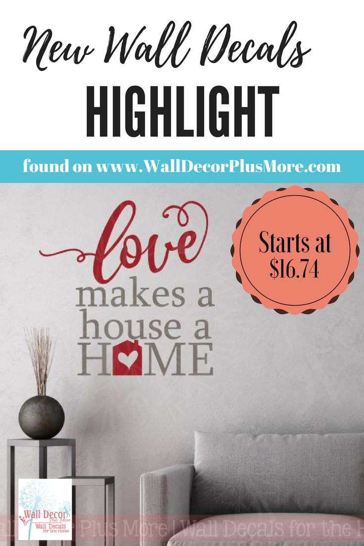 Love Makes A Home Wall Decor Stickers Vinyl Lettering Decals Wall