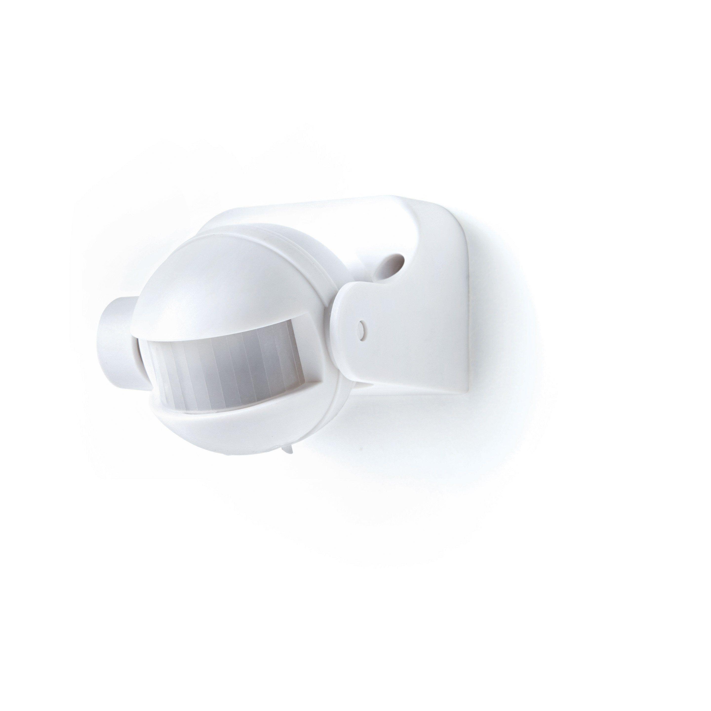 Detecteur De Mouvement Pour Eclairage 180 Blanc Lexman En 2020 Detecteur De Mouvement Detecteur Et Blanc