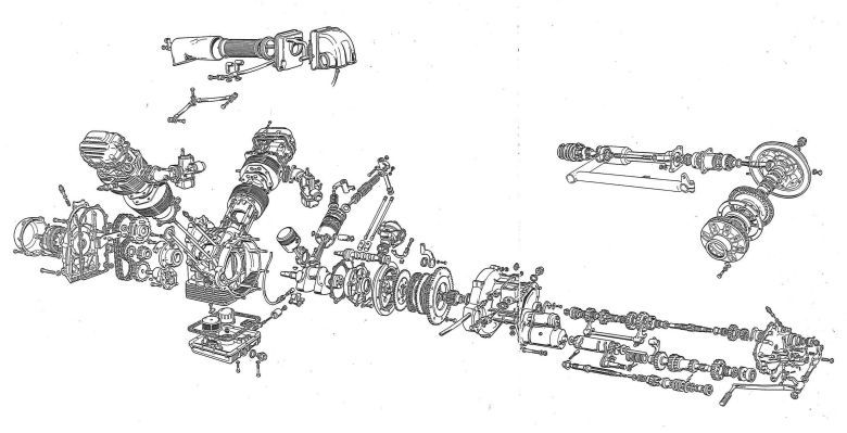 Exploded Engine And Gearbox Diagram  Avec Images