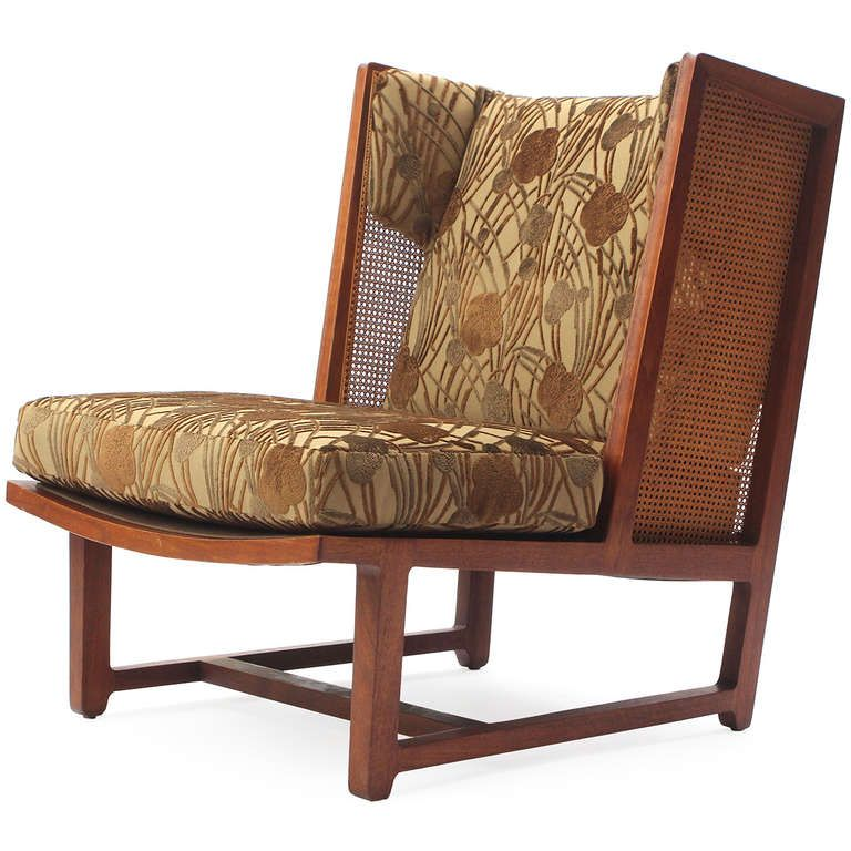 Cane Panel Low Chairs by Edward Wormley for Dunbar image 4