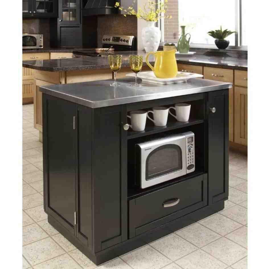 Sharp Under Cabinet Microwave Oven Versatile Kitchen Black Kitchen Island Portable Kitchen Island