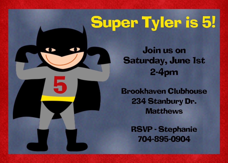 Superhero Birthday Invitation Superhero Birthday Party Invitation Printable Digital. $15.00, via Etsy.