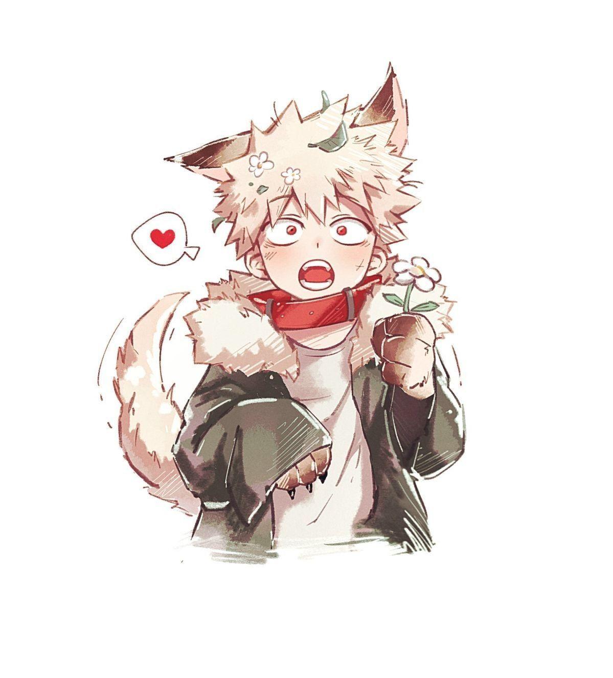 Boku no hero academia one shots [Au] Werewolf! Bakugou X
