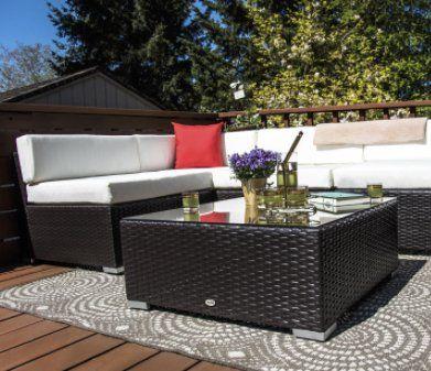 win a 7 piece rattan patio furniture sectional set worth 500 00 rh pinterest com win garden furniture 2018 Rustic Outdoor Furniture