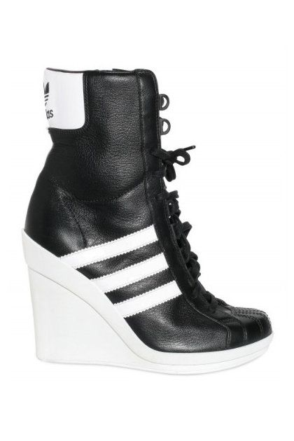 029e74fecee4 Adidas ObyO Jeremy Scott Leather Sneaker Wedges   that s a statement ...