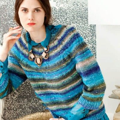 4977501ba Noro Lace Yoke Pullover PDF at WEBS