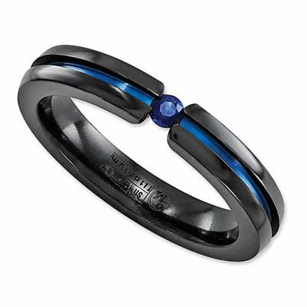 Radiance by Edward Mirell 3.0mm Blue Sapphire Anodized