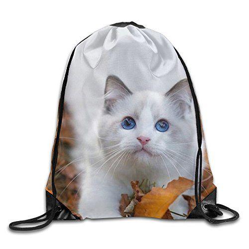 ff2edbfddd HUEKA UCK Backpacks Autumn Ragdoll Kitten Daypack Lightweight Drawstring  Bags Custom String Bag Polyester Travel Drawstring