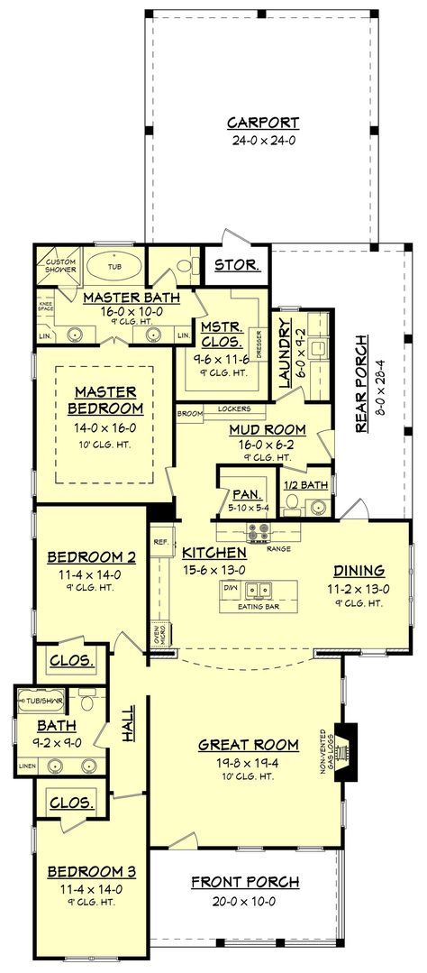 house plan with mudroom shower. This wonderful 3 bedroom  2 bath house plan is loaded with features and style It offers a luxurious master suite oversized closet mudroom entry Cottonwood Lane House Plan Mudroom Lockers Pantry