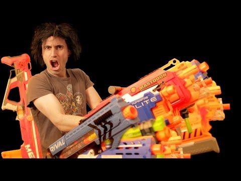 NERF WAR: CRAZY NERF GUN MOD - YouTube