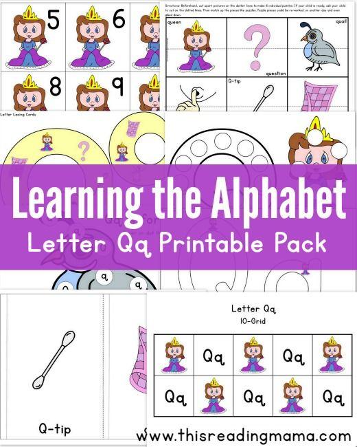 Learning the Alphabet FREE Letter Q Printable Pack Alphabet
